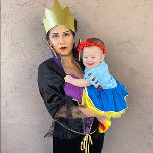 Evil queen costume XL & baby show white costume